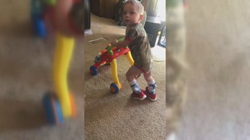 'A true miracle from God': Georgia 3-year-old with cerebral palsy takes his first steps