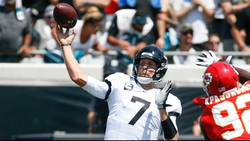 Nick Foles ruled out after 1st quarter of season opener, Myles Jack ejected.