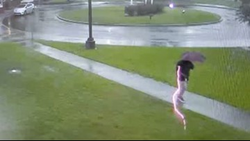 What was really going on in the viral video that appeared to show a man being struck by lightning?
