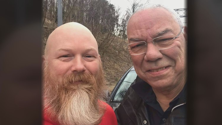 His friendship with Colin Powell was just beginning - when an Army amputee changed a tire on the Beltway