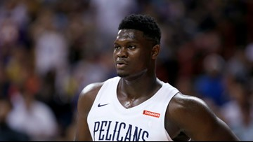 Zion Williamson out for summer league with bruised knee