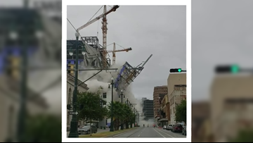'Oh my God': Video shows moment Hard Rock Hotel collapses in New Orleans