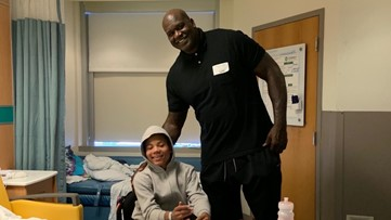 Shaquille O'Neal pays rent for paralyzed boy's family