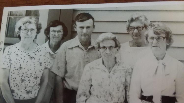 The Mangham siblings in 1980.