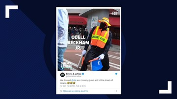 Odell Beckham Jr. goes undercover as dancing Atlanta crossing guard for Super Bowl LIII
